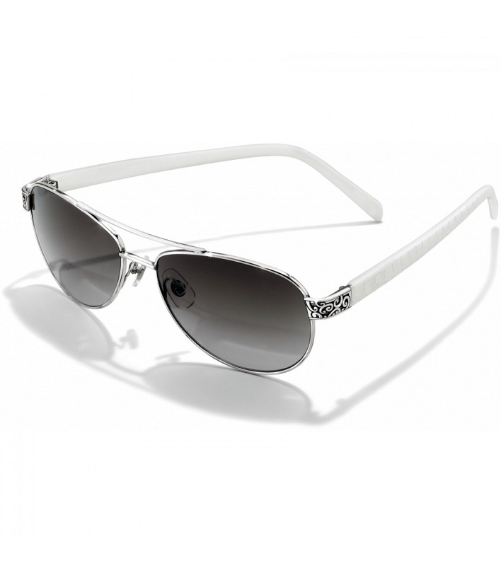 Sugar Shack White Silver Sunglasses,A12092