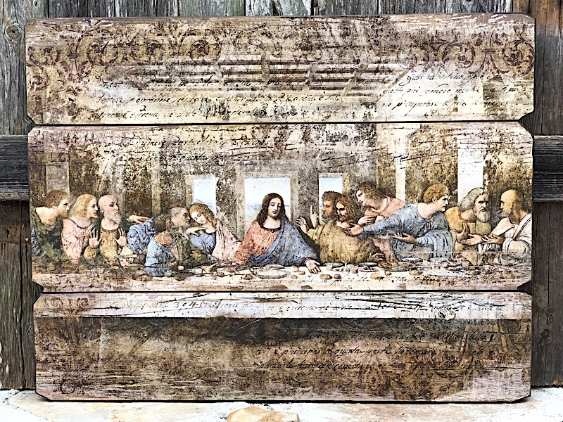 Last Supper Stone Plank,40507