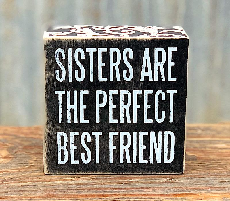 Sisters/Best Friend Box Sign,21326