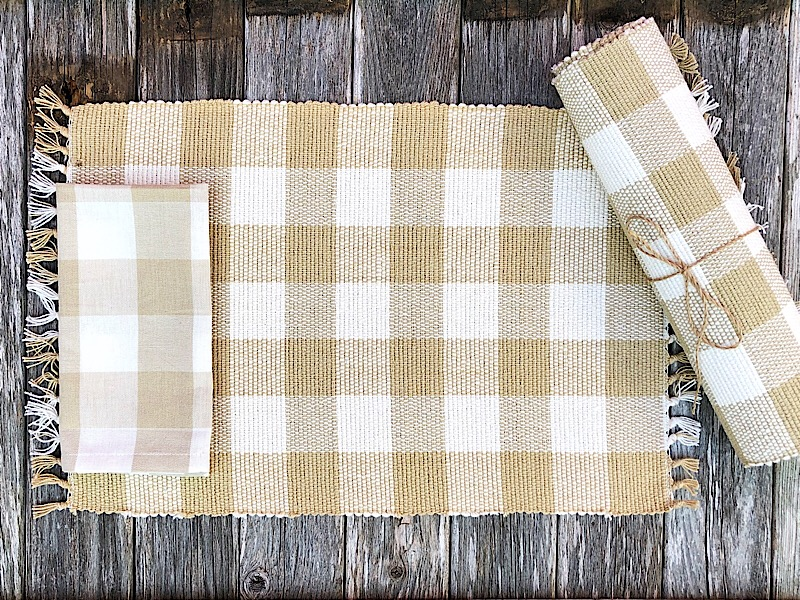 Tan Wicklow Kitchen Linens,113-01XF-PLACEMAT