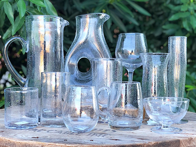 Clear Bubble Glass Drinkware,207217-SMWINE