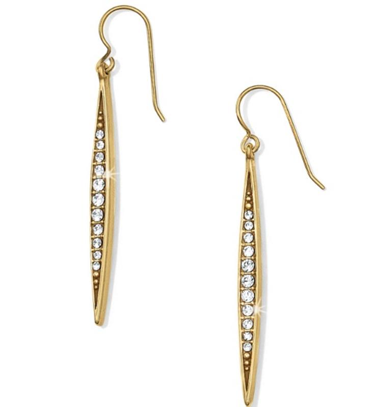 Gold Contempo Ice French Wire Earring,JA1165