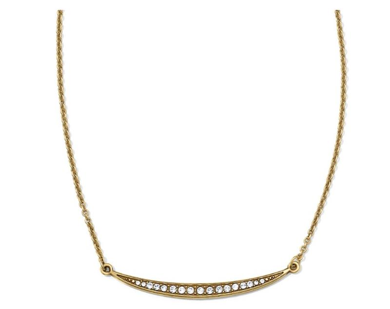 Gold Contempo Ice Short Necklace,JL4255