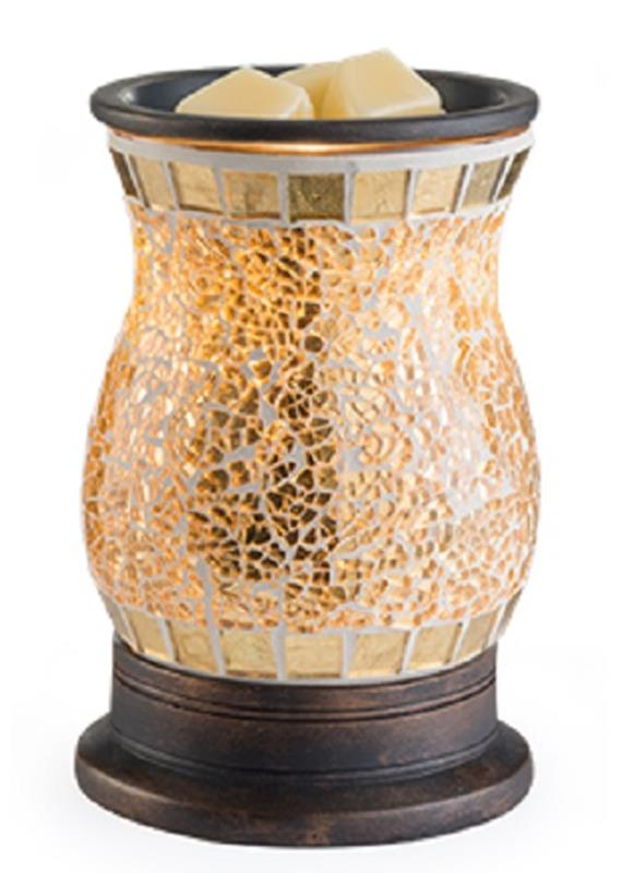 Gilded Glass Warmer,GMGLD