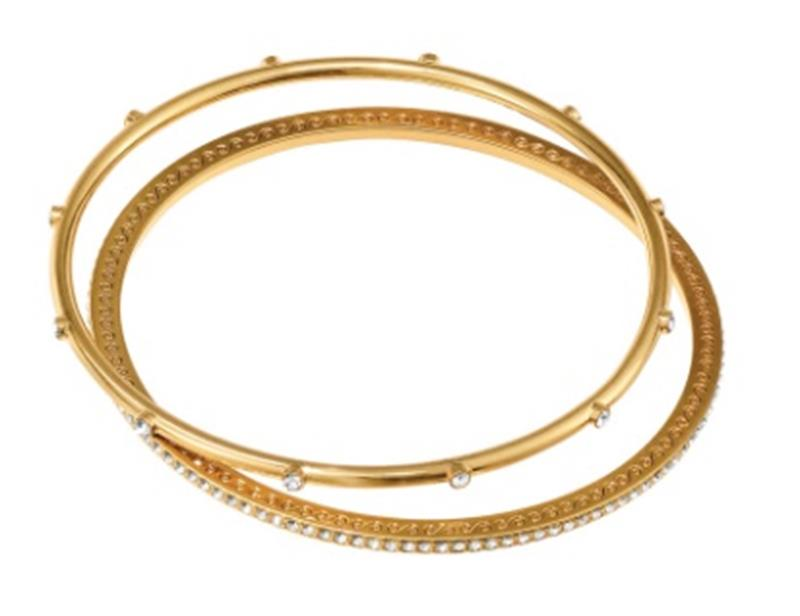 Neptunes Rings Gold Pave Bangles,JF4285