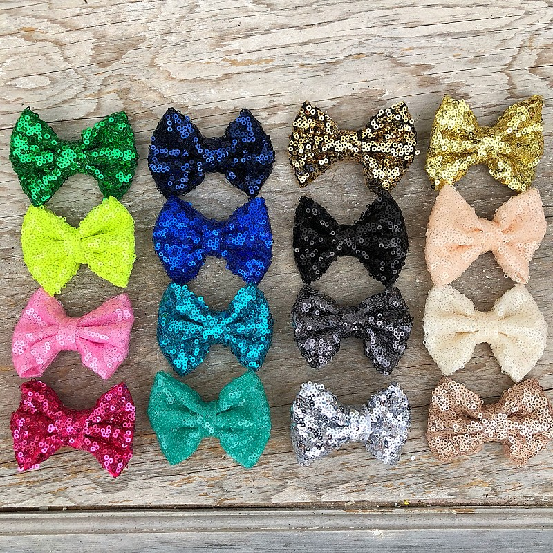 """Sequin 3"""" Bow,3INSEQUIN-GOLD"""