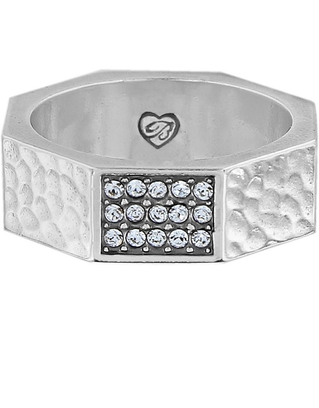 Meridian Zenith Silver Faceted Ring,J62461-6