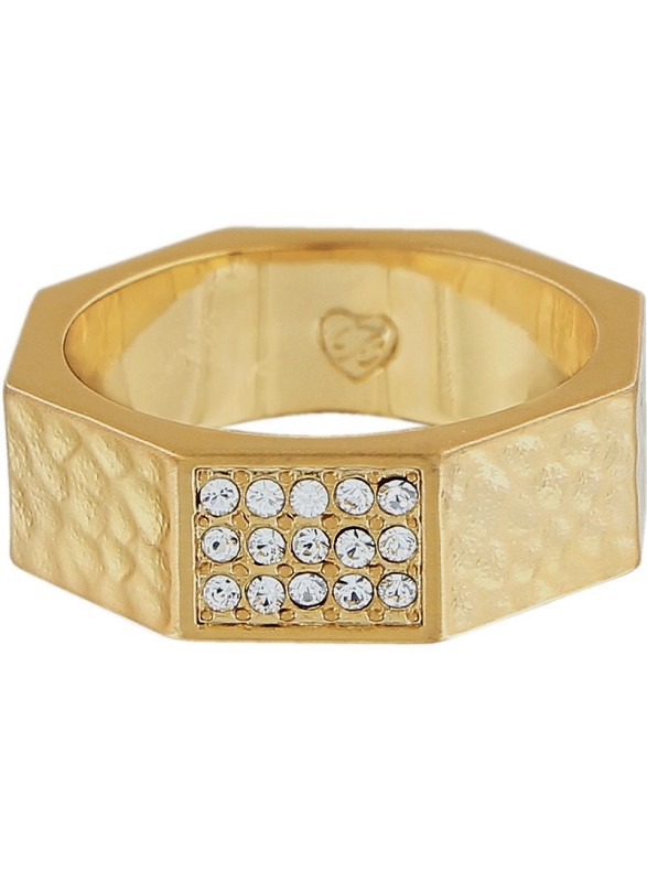 Meridian Zenith Gold Faceted Ring,J62465-8