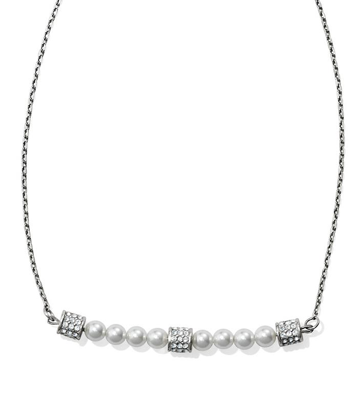 Meridian Petite Pearl Bar Necklace,JL8391