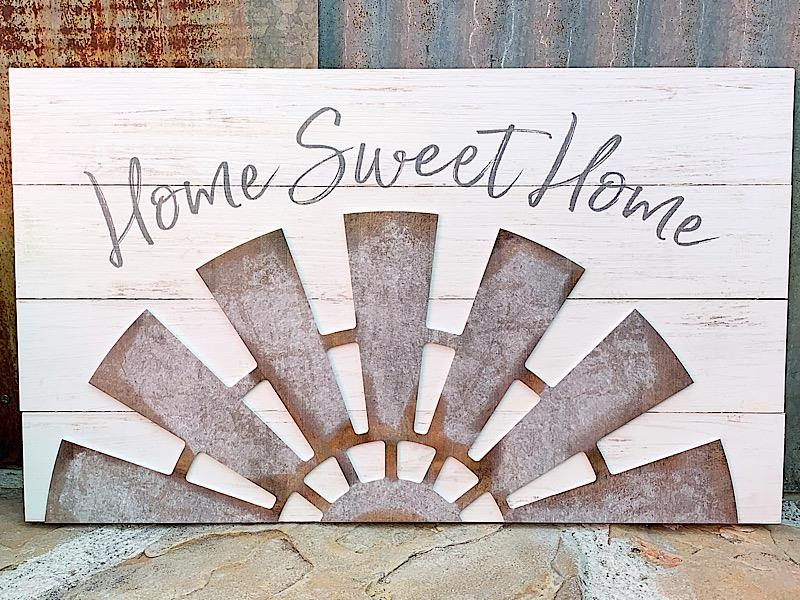 Home Sweet Windmill Sign,PND0006
