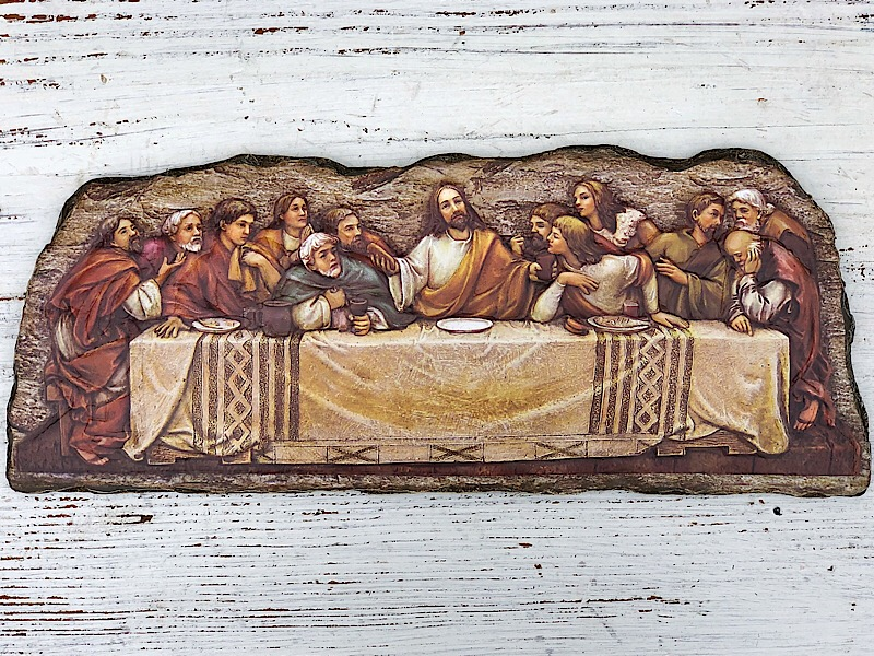 Last Supper Wall Stone Plaque,65969
