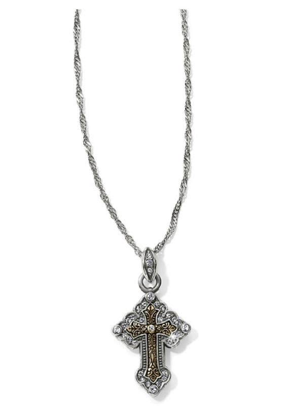 Greek Petite Cross Necklace,JL9052