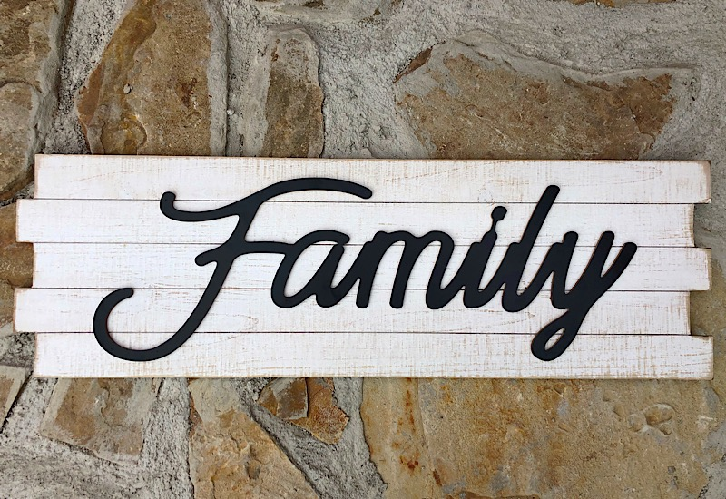 Family Wood Plank Sign,MT2896