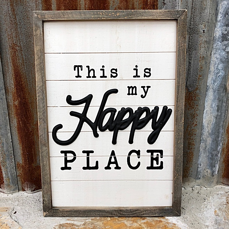 Happy Place Wood Sign,MT2892