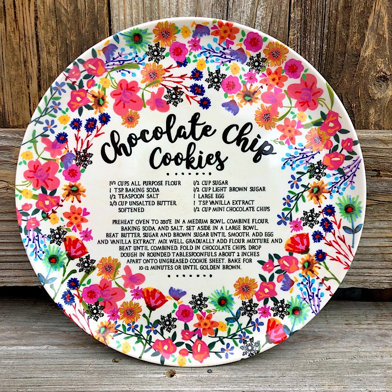 Chocolate Chip Cookie Giving Plate,MPLT052