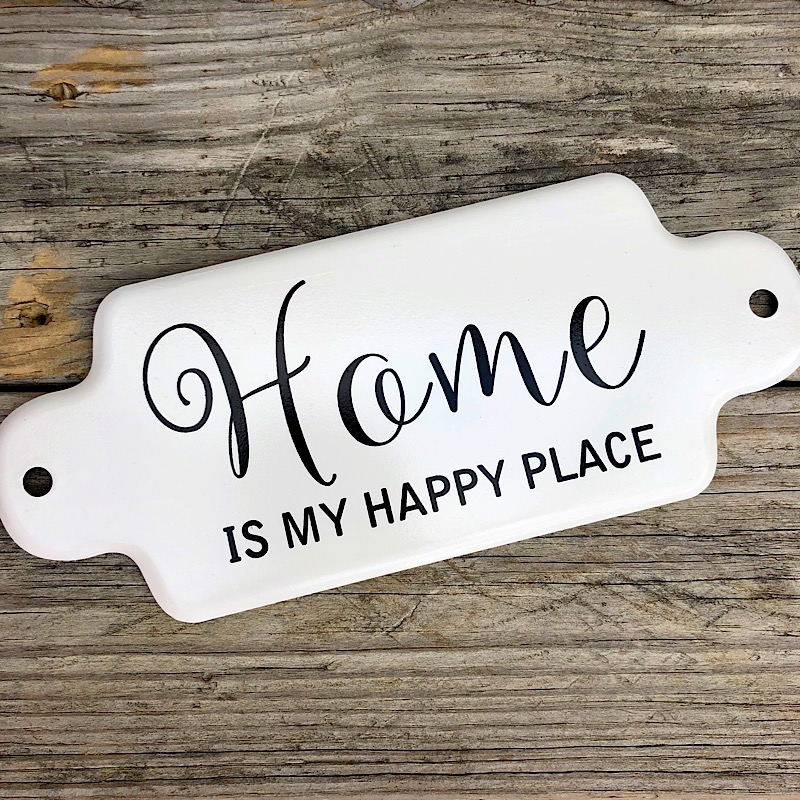 Home Is My Happy Place Metal Sign,MT2885