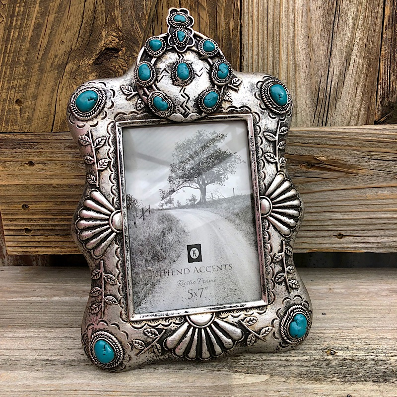 Taylin Turquoise Detail Picture Frame 5x7,WD1711