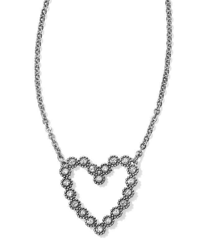 Twinkle Floating Heart Necklace,JL7591