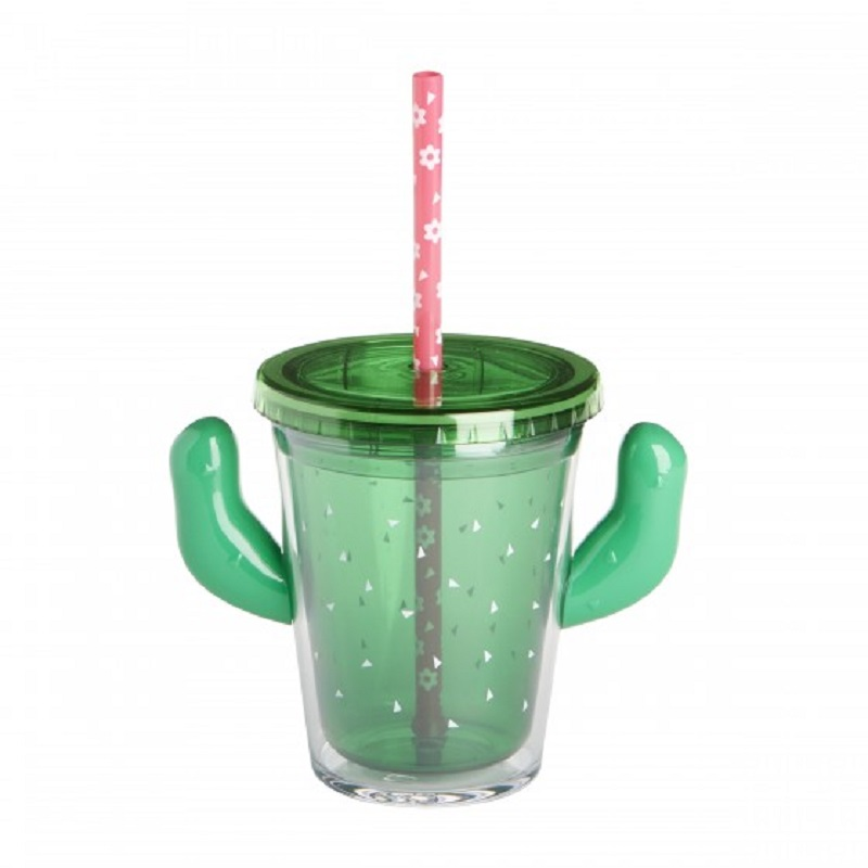 Cactus Cup With Straw,qshg-2083
