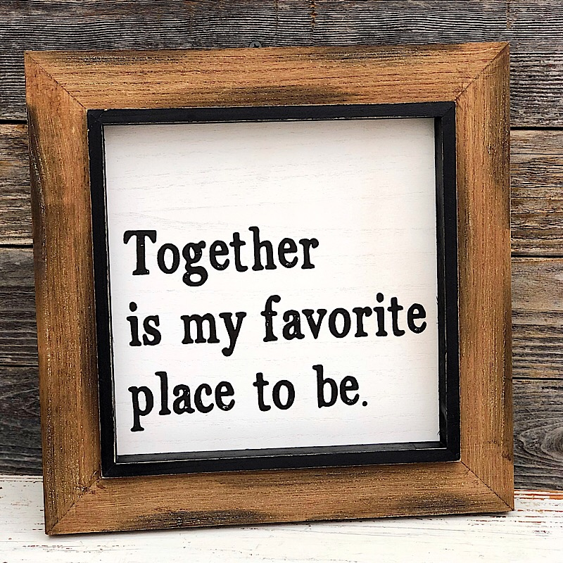 Together Layered Sign,PS-7075