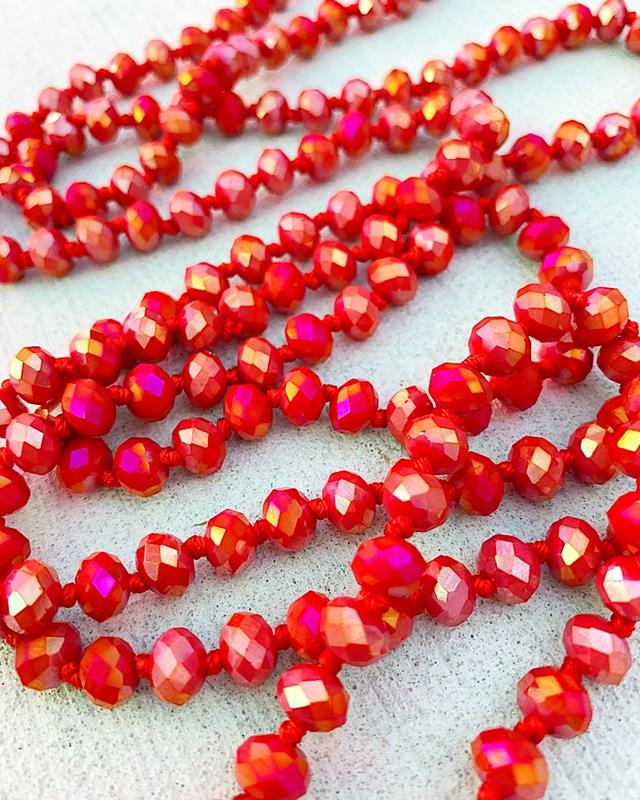 "Red AB Brea 60"" Beads,BREA-REDAB"