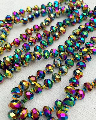 "Dark Rainbow Brea 60"" Beads,BREA-DKRAINBOW"