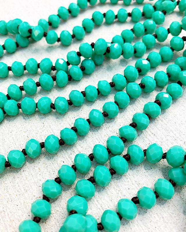 """Turquoise Brown Knot Brea 60"""" Beads,BREA-TURQ/BRN"""