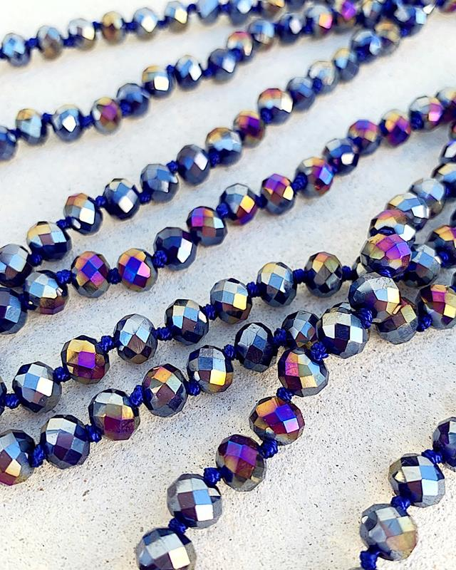 "Midnight Mix Brea 60"" Beads,BREA-MIDNIGHTMIX"