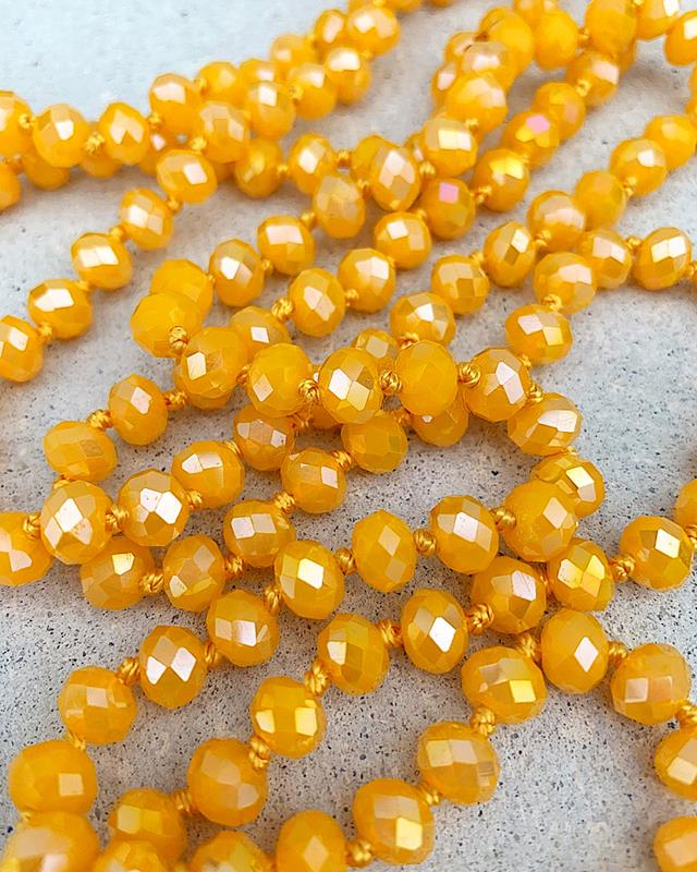"Sunflower Shimmer Brea 60"" Beads,BREA-SUNFLOWERSHIM"