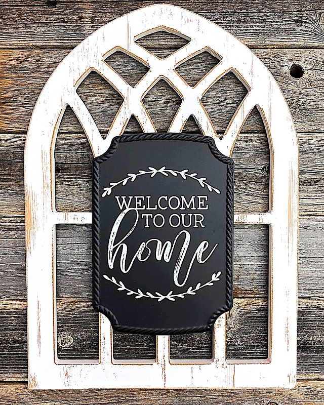 Arched Window Sign,6700-WELCOME