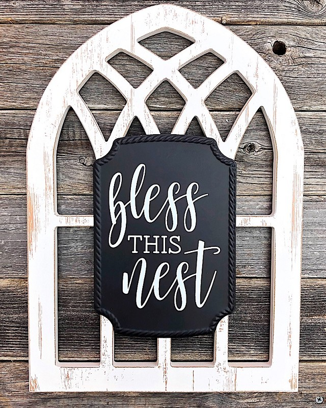 Arched Window Sign,6700-NEST