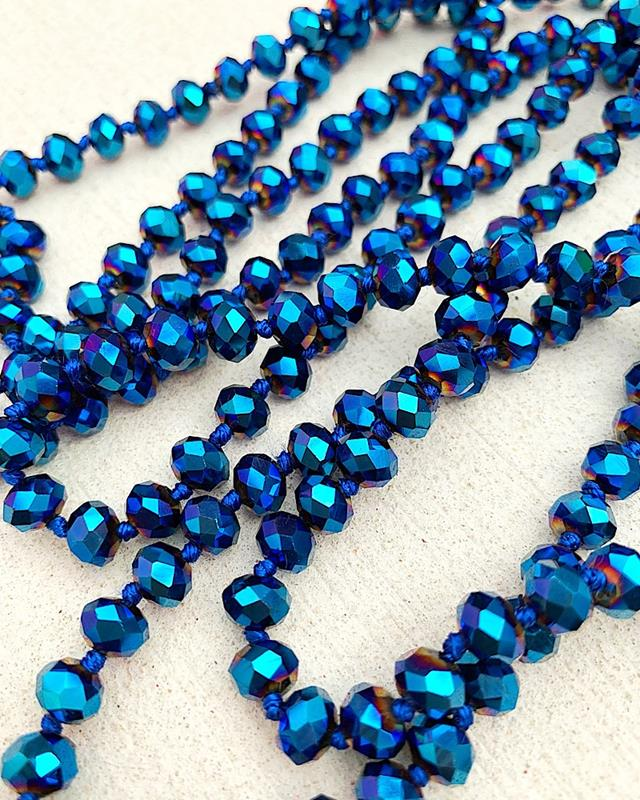 "Metallic Midnight Blue Brea 60"" Beads,BREA-METALMIDBLUE"