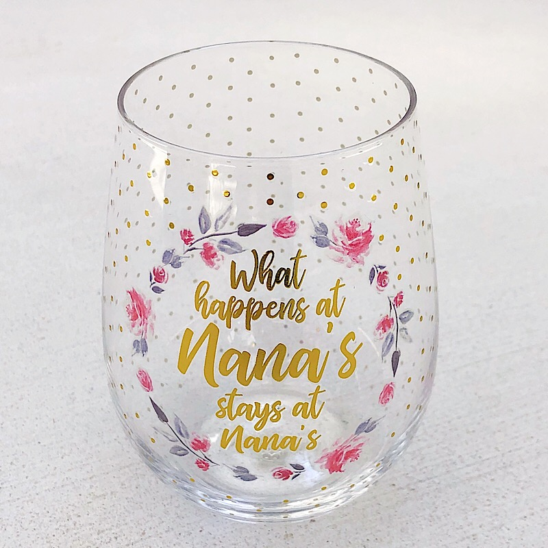 What Happens Stemless Wine Glass,25511