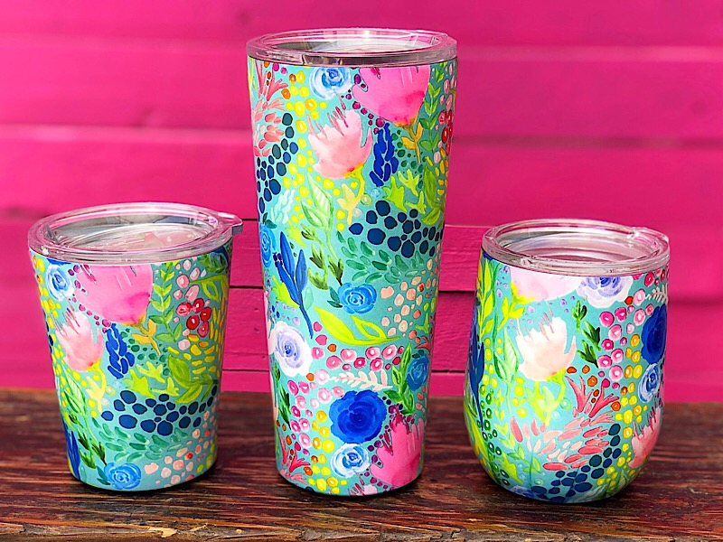 Tropical Stainless Tumblers,25961