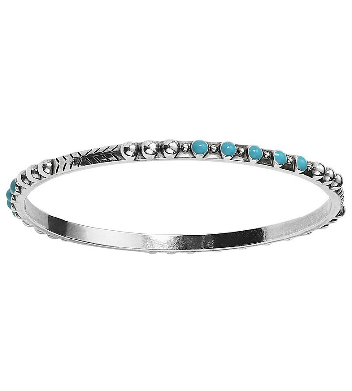 Southwest Dream Turquoise Trail Slim Bangle,JF6383
