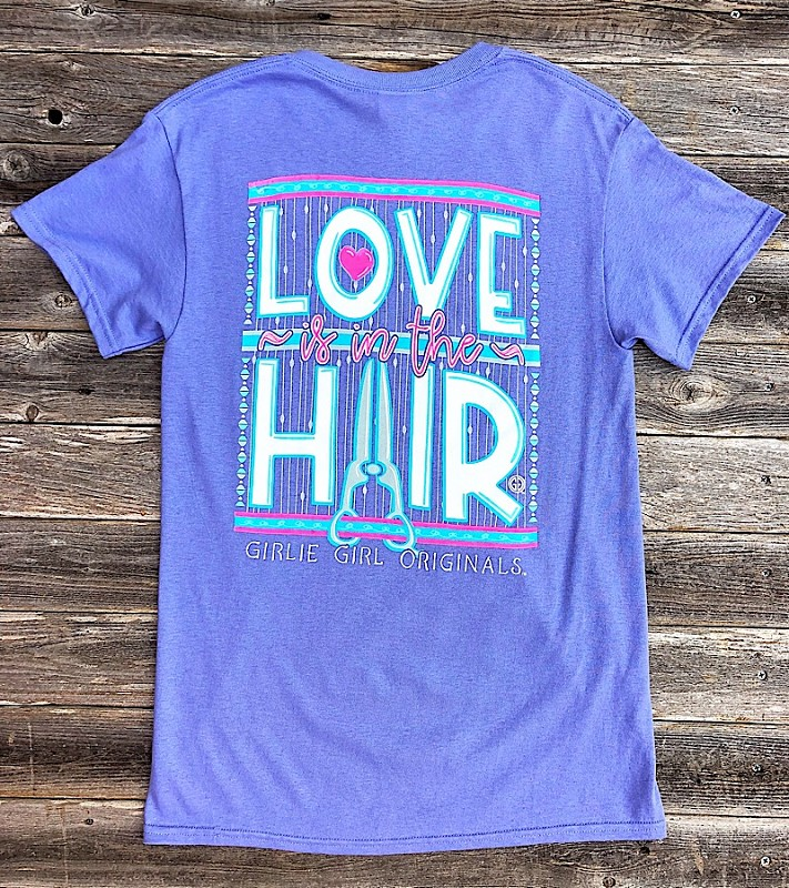 Love Is In The Hair T-Shirt,LOVEHAIR-SMALL