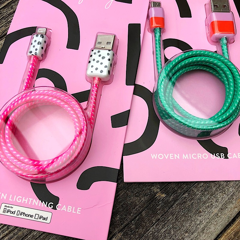 Woven Charging Cable,C09207-GREEN