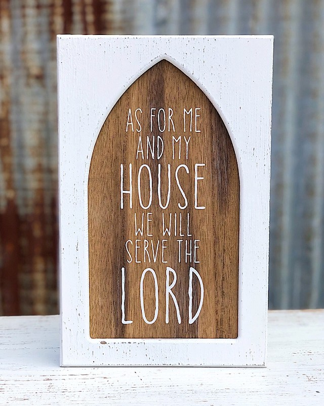 Serve The Lord Window Sign,PS-7406