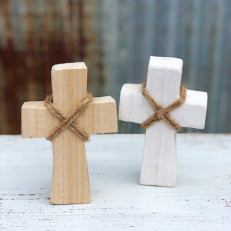 Small Standing Cross,F154-NATURAL