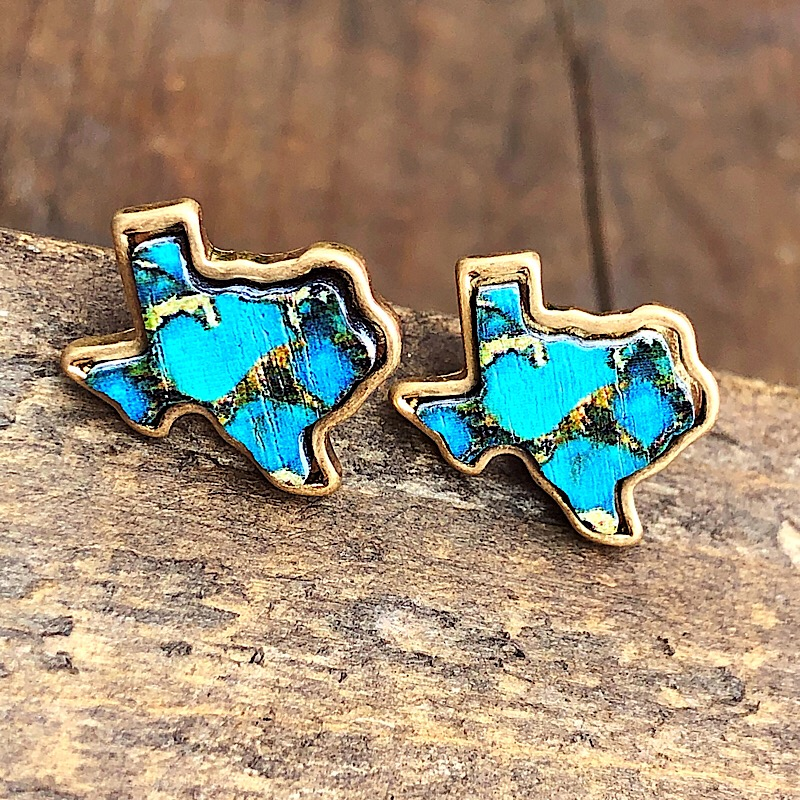 Trace Turquoise Texas Earrings,TRACETXER-TURQ