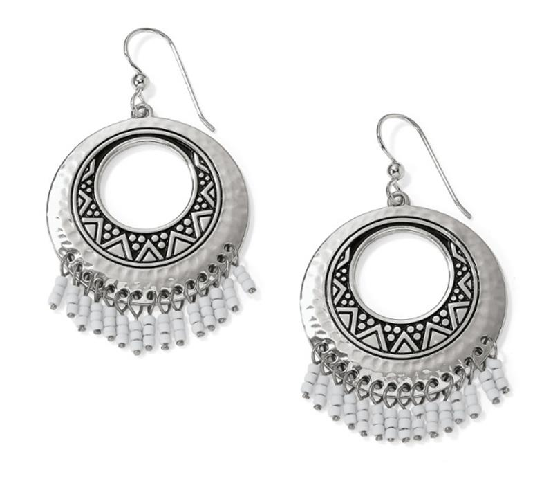 Africa Stories Round Fringe French Wire Earrings,JA5220