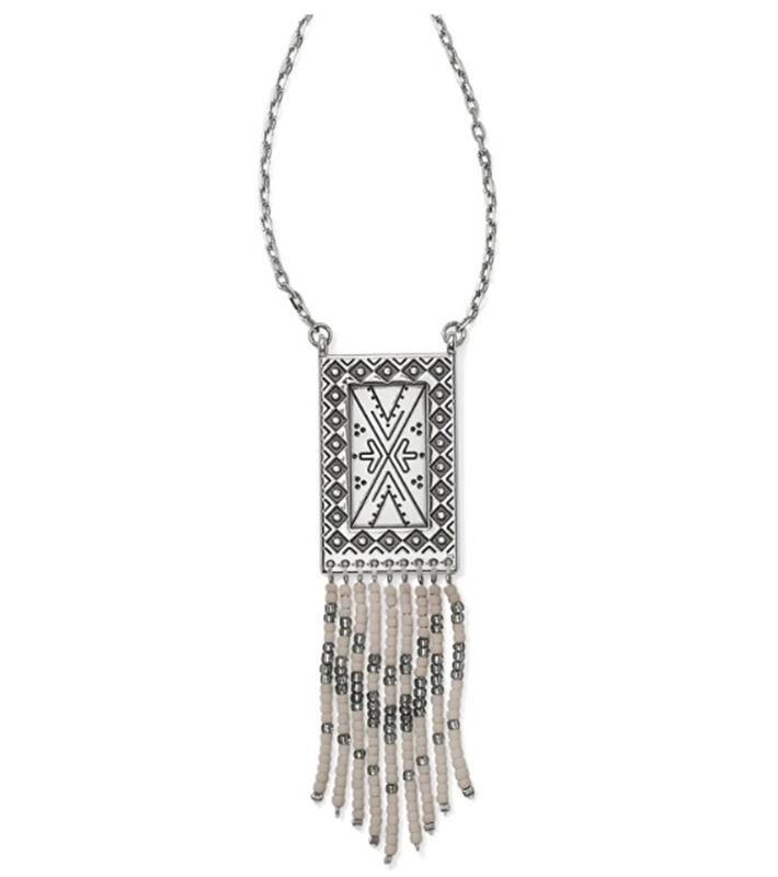 Africa Stories Bead Fringe Necklace,JM0690