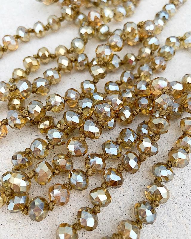 "Clear Light Topaz 60"" Beads,BREA-CLEARLTTOPAZ"