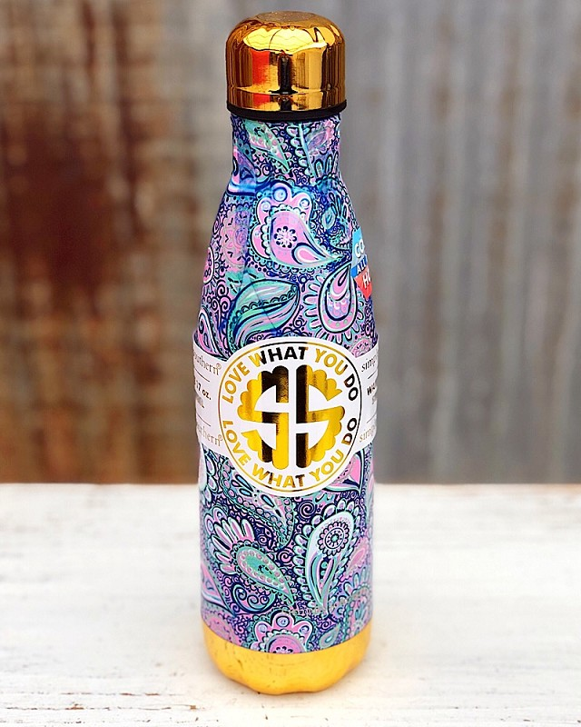 Paisley Stainless Steel Water Bottle,WTRBOTTLE-PAISLEY