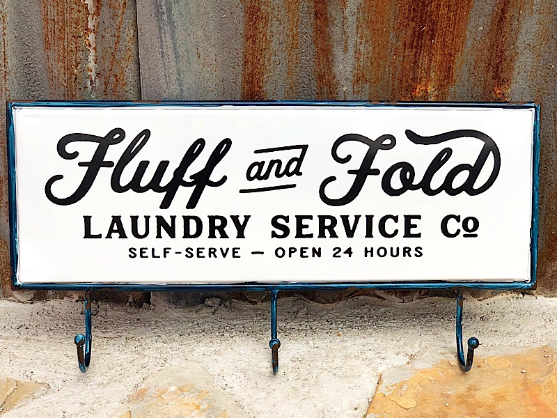 Fluff And Fold Sign,10417