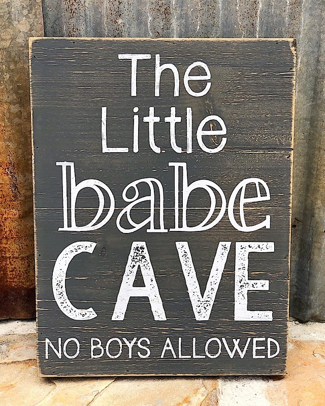 Little Babe Cave Sign,33025