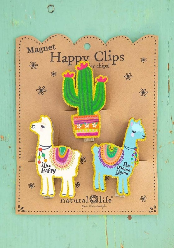 Cactus Llama Magnet Chip Clips,CHCL109