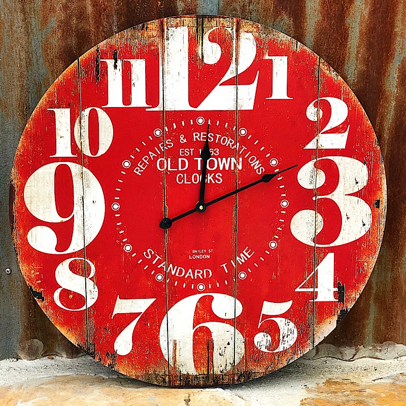 Old Town Red Clock,MJ8288
