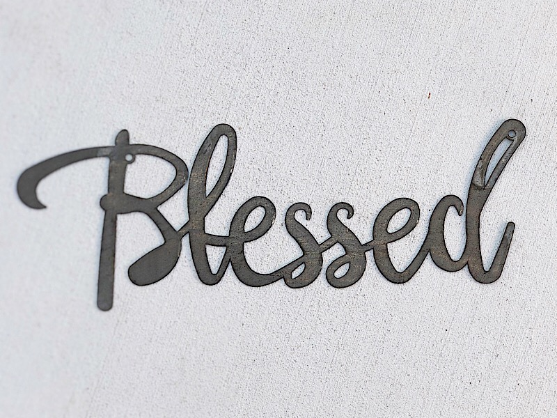 Blessed Metal Wall Sign,19341