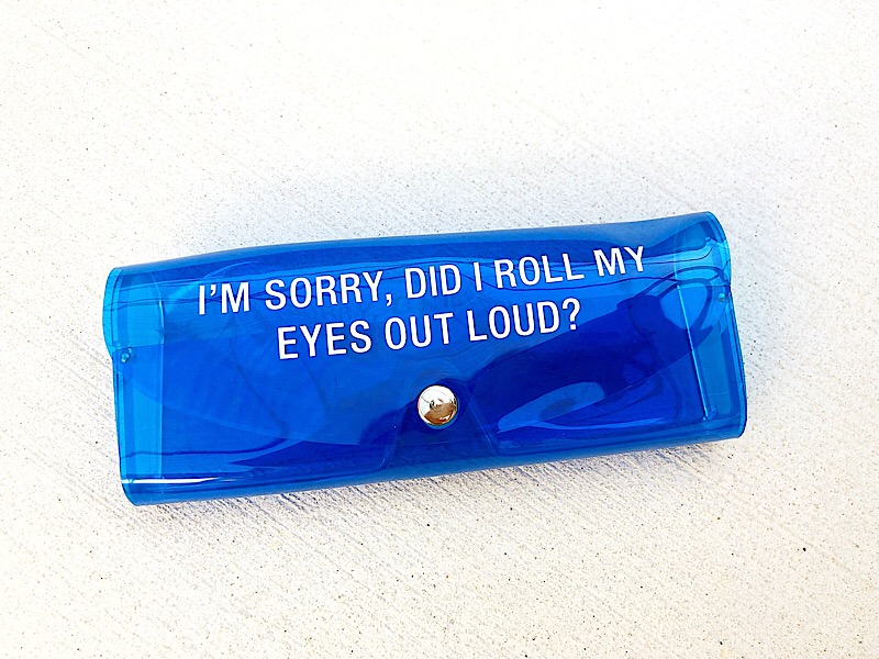 Say What? Blue Sunglasses Case,125-BLUE